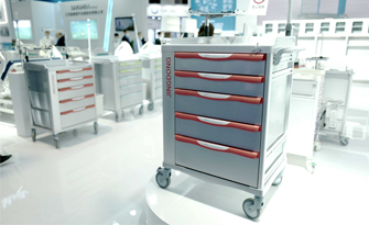 What should be paid attention to when designing a hospital emergency trolley ?